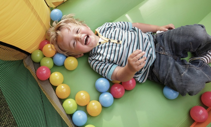 Bounce U Raleigh - Apex: 2, 4, or 6 Groupons, Each Good for an Open Bounce Session or a Kids' Party at Bounce U Raleigh (Up to 41% Off)