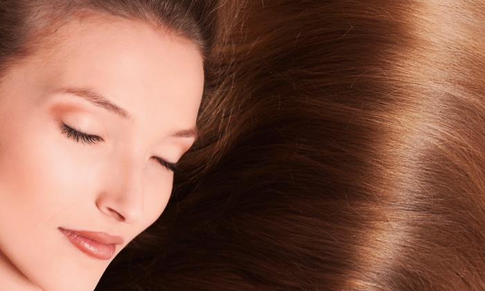 Shampoo Salon and Spa - Deer Creek: Keratin Complex Treatment or Express Keratin Treatment at Shampoo Salon and Spa in Prairie Village (Up to 66% Off)