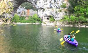 CANOE ARDECHE BATEAUX: Descente en canoë sur un parcours de 8 ou 32 km pour 2 ou 4 personnes dès 32 € avec Canoë Ardèche Bateaux