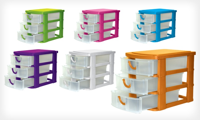 Home Expressions Mini Organizers: $15 for a Home Expressions Three-Drawer Organizer ($29.99 List Price). Six Colors Available. Free Shipping and Returns.