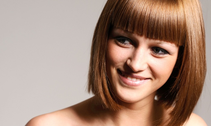 RetroChic Salon - Uptown: Haircut and Keratin Treatment with Optional Color or Partial or Full Highlights at RetroChic Salon (Up to 65% Off)