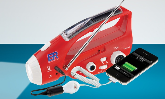 Emergency Ready Radio : $26.99 for an Emergency Ready Radio with Built-In Flashlight and Charger ($49.95 List Price). Free Shipping and Returns.