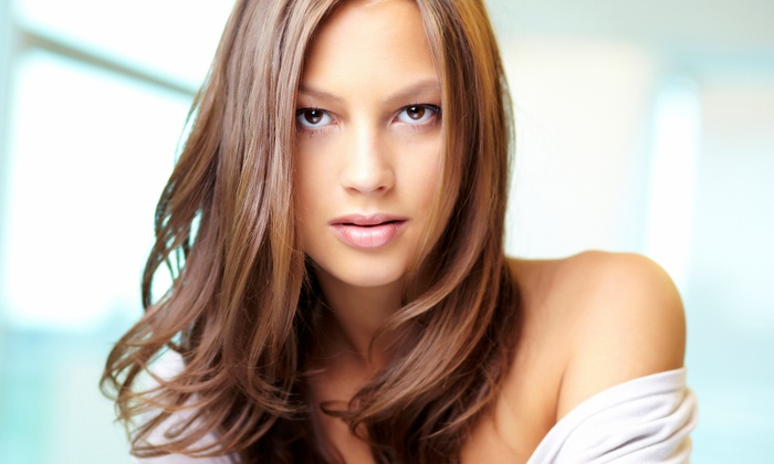 Dynamic Salon - West Side: Cut and Moroccanoil Conditioning Treatment, Partial Highlights, or Splashlights at Dynamic Salon (Up to 67% Off)