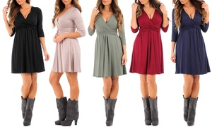 Women's Cross-Front Ruched Dress at Women's Cross-Front Ruched Dress, plus 6.0% Cash Back from Ebates.