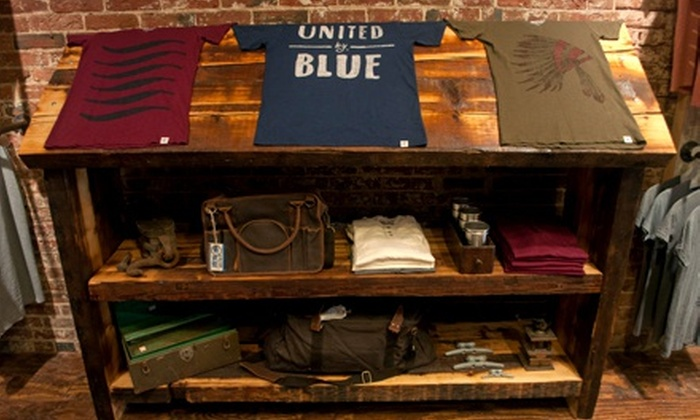 United By Blue - Philadelphia: Organic Clothing and Coffeeat United By Blue (Up to 56% Off). Two Options Available.