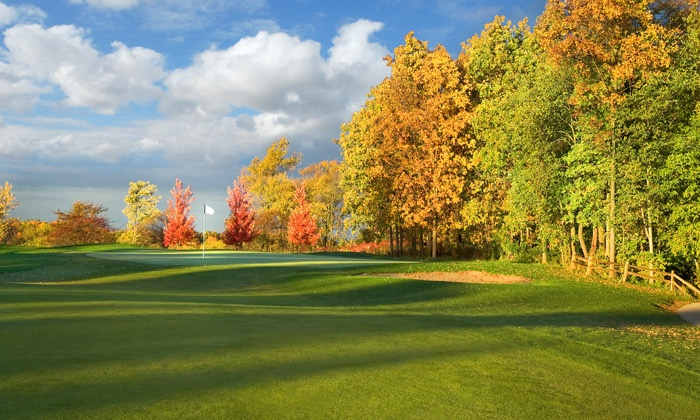 Prairie View Golf Club - Byron: 18 Holes of Golf with Cart for Two or Four at Prairie View Golf Club (Up to 50% Off). Four Options Available.