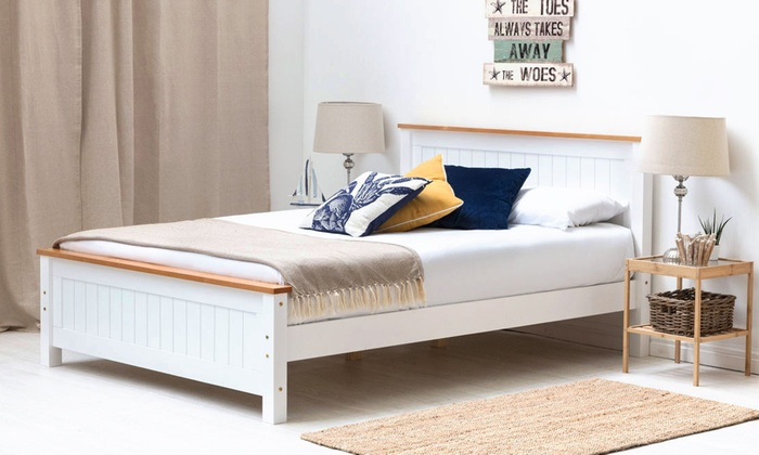 Wooden Shaker Bed Frame with Optional 15cm or 23cm Deep Mattress