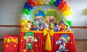 Di Brincadeira: Di Brincadeira: decoração completa (opção com mesa de guloseimas + 1 ou 2 brinquedos)