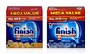 Finish Gelpacs or Powerball Dishwasher Detergent (2- or 4-Pack)