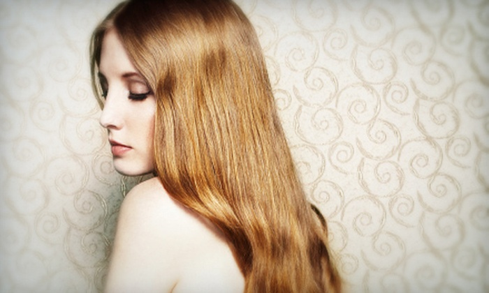 Adeo Beauty - Remmington Park: Haircut, Style, and Moroccanoil Treatment with Optional Full Colour at Adeo Beauty (Up to 55% Off)