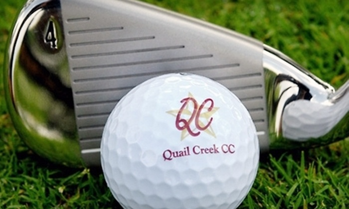 Quail Creek Golf Club - San Marcos: 18-Hole Round of Golf for Two or Four with Range Balls at Quail Creek Golf Club in San Marcos (Up to 56% Off)