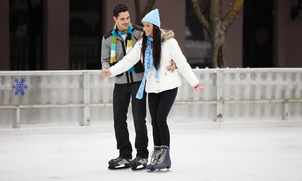Ice Skating Package for Two or Four with Popcorn and Drinks at Glacier Ice and Snow Arena (Up to 37% Off)