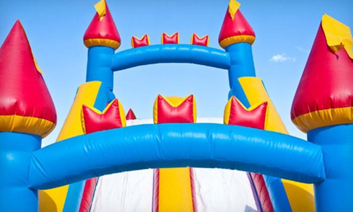 Fore! Family Fun - Oswego: $29 for Mini Golf, Bounce Time, and Pizza at Fore! Family Fun  in Oswego (Up to $62.99 Value)