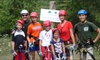 Dagaz Acres - Rising Sun: Guided Zipline Tour for Two People on the Ultimate or Premier Course at Dagaz Acres (Up to 46% Off)