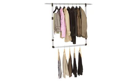 One or Two Aluminium Wardrobe Organiser Rails