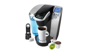 Keurig K75 Platinum One-cup Brewer With 12-pack Coffee Sampler And Charcoal Filter