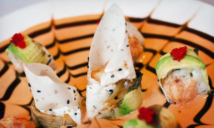 Roppongi Sushi & Bar - Huntersville: Sushi and Japanese Cuisine at Roppongi Sushi & Bar (Up to 58% Off). Three Options Available.