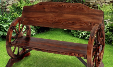Panca da giardino in legno di pino groupon for Groupon giardino