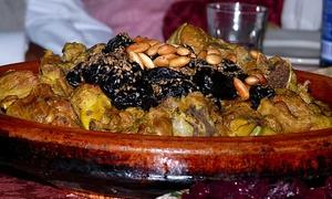 Sarl Les Délices Du Maroc: Spécialités marocaines avec entrée, plat et dessert pour 2 ou 4 personnes dès 29,90 € au restaurant Les Délices Du Maroc