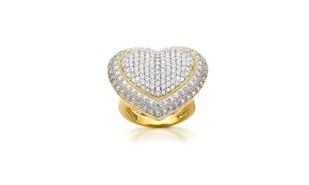 1.00 CTTW Diamond Heart Ring