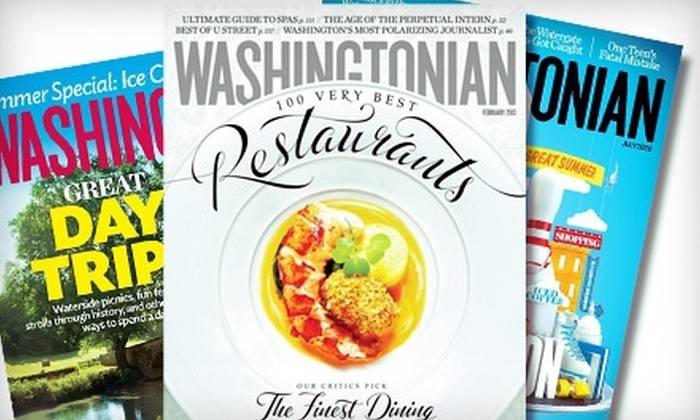 "Washingtonian: One- or Two-Year Print Subscription to ""The Washingtonian"" (Up to 53% Off)"
