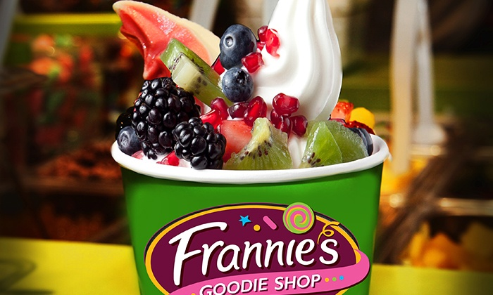 Frannie's Goodie Shop - Multiple Locations: Three Groupons, Each Good for $10 Worth of Fro-Yo, or Fro-Yo Party for Up to 10 at Frannie's Goodie Shop (50% Off)