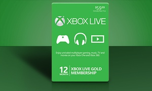 12-month Xbox Live Gold Card