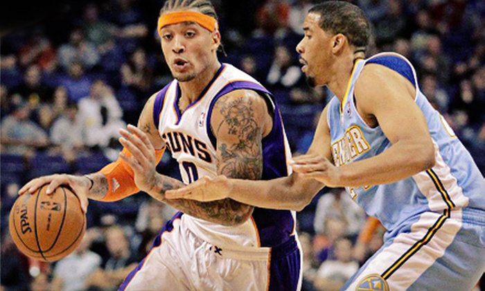 Phoenix Suns - Talking Stick Resort Arena: Phoenix Suns Game-Day Package for Two at US Airways Center (Up to 65% Off). Three Games & Two Seating Options Available.