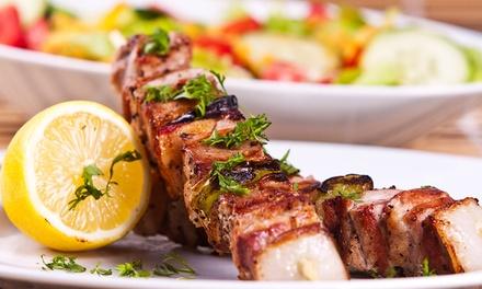 Fleisch-Spieß vom Grill mit Beilage und Nachspeise für 2 oder 4 im Mendoza Steakhaus Am Tierpark (bis zu 52% sparen*)