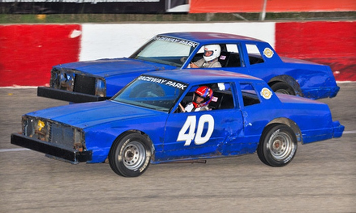 Raceway Park - Shakopee: $80 for Sunday Racetrack Outing with Eight-Lap Racing Experience at Raceway Park in Shakopee (Up to $165 Value)