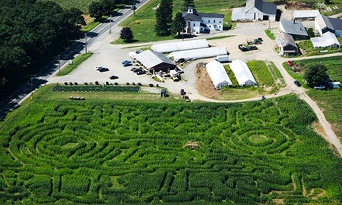 Corn Maze at Marini Farm - Marini's Stand: Night or Day Outing for Four with Option for Hayride and Jumping Pillow at Corn Maze at Marini Farm (Up to 49% Off)