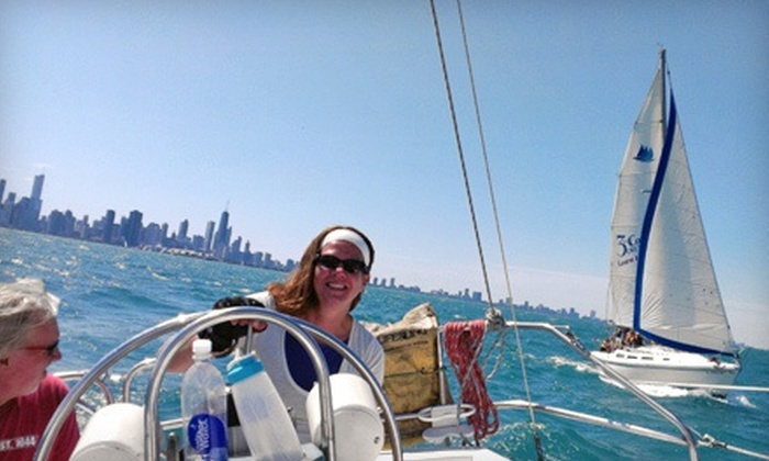 3rd Coast Cruising - DuSable Harbor: $99 for a Three-Hour Introductory Sailing or Racing Lesson from 3rd Coast Cruising ($300 Value)
