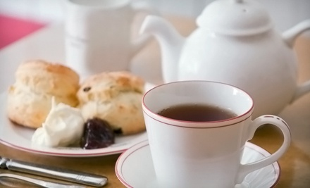 $12 for High Tea for One with Sandwiches, a Scone, and Desserts at British Bell Tea Room ($25 Value)