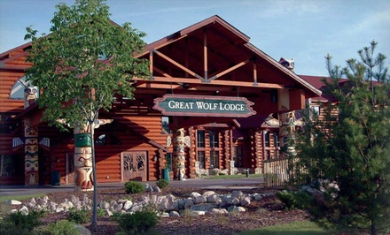 1-Night Stay for Up to Six or Seven with Water Park Passes and $25 Resort Credit at Great Wolf Lodge Traverse City