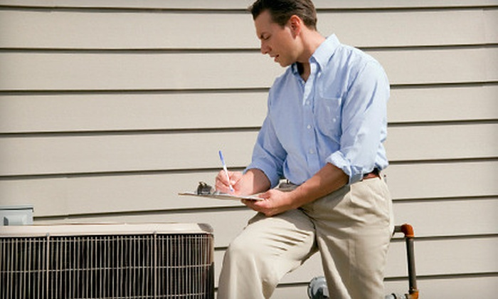 KC A/C Heating, Plumbing and Rooter - customers home.: $49 for an Air-Conditioner Cleaning and Tune-Up from KC A/C Heating, Plumbing and Rooter ($169 Value)
