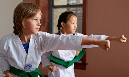 One or Two Months of Karate Classes with Uniform at AmKor Karate Institutes (Up to 79% Off)