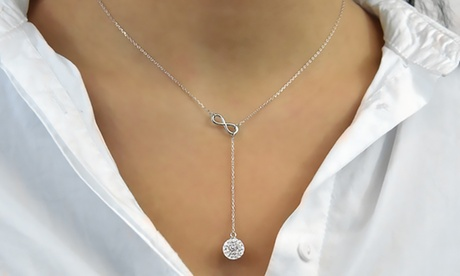 one, two or three philip jones infinitylariat necklaces with crystals from swarovski®