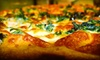 Wall Street Pizza - Downtown: One or Two Large Two-Topping Pizzas with Wings and a Pitcher of Soda at Wall Street Pizza & Restaurant (Up to 54% Off)