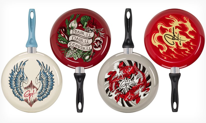 """Guy Fieri 12"""" Fry Pan: $24.99 for a Guy Fieri 12"""" Decorated Fry Pan ($35.95 List Price). Four Designs Available. Free Shipping and Returns."""