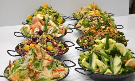 Medium Box of Salad for 1 (From $10), 2 (From $19) or 4 People (From $36) at Yuno Salad Bar (From $13 Value)