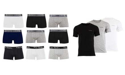 Lot de 3 boxers et 3 tshirts Pierre Cardin en coton, modèles et tailles au choix à 29,90€