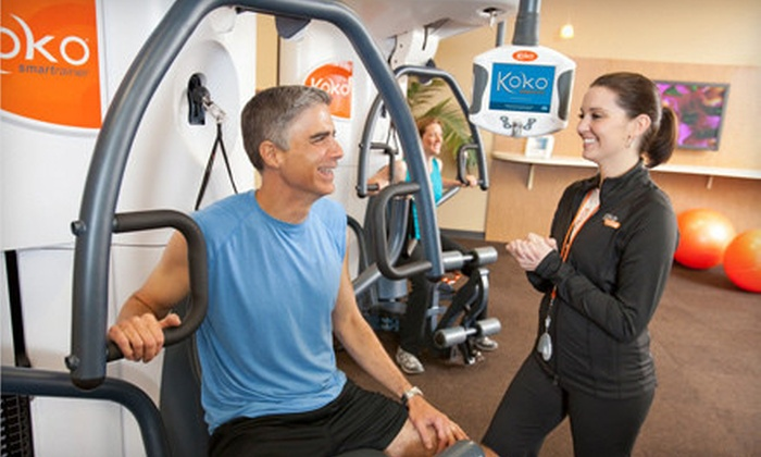 Koko FitClub - Multiple Locations: $29 for 15 Smartraining Sessions, Unlimited Cardio Sessions, and a Fitness Consult at Koko FitClub ($90 Value)