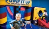 Pump it Up - Multiple Locations: Five Pop-In Bounce Sessions or a Weekday Birthday Party Package for Up to 10 at Pump it Up (Up to Half Off)