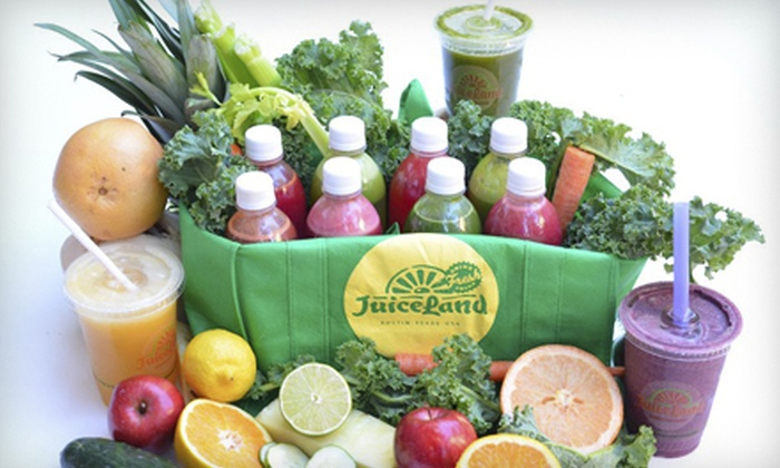 JuiceLand - North University: $5 for $10 Worth of Freshly Squeezed Juices and Smoothies at JuiceLand's New Spider House Location