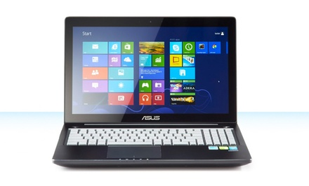 "groupon daily deal - ASUS 15.6"" Full HD Touchscreen Laptop with Core i7-4500U Processor (Manufacturer Refurbished). Free Returns."