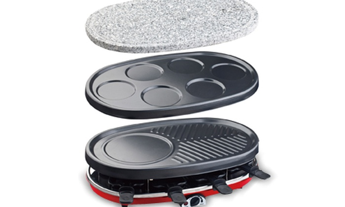 Appareil raclette cr pi re pierre griller grill for Appareil convivial