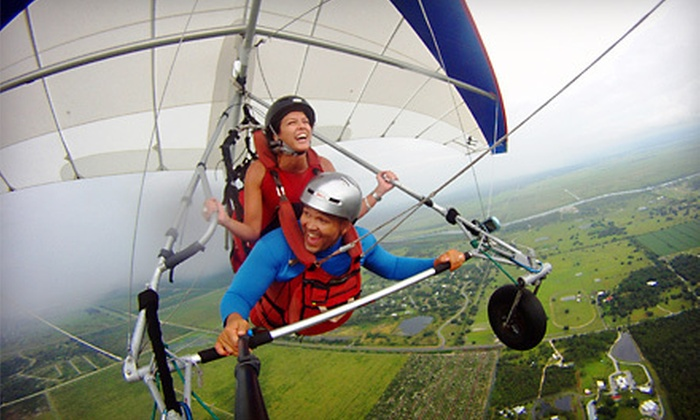 Tampa Hang Gliding - The Florida Ridge Sports Air Park: $89 for Tandem Discovery Flight Package from Tampa Hang Gliding in Clewiston ($179 Value)