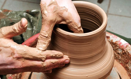 Wheel-Thrown Ceramics Class for One or Five at Clay (Up to 63% Off)