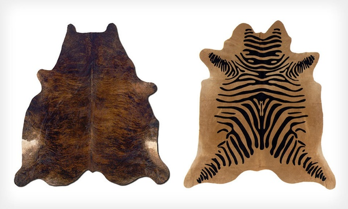 Cowhide Rugs: Cowhide Rugs (Up to 60% Off). Two Options Available. Free Shipping.