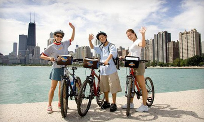 Bike and Roll Chicago - Multiple Locations: Night Bike Tour or Neighborhoods Bike Tour for Two from Bike and Roll Chicago (Half Off)